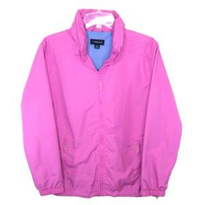 Lands' End Pink Nylon Rain Jacket - M (10/12)